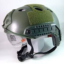 Capacete Tactical Fast Goggle preto, coyote ou verde oliva