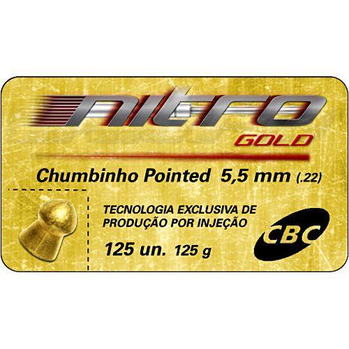 Chumbinho CBC - Pointed Nitro Gold - 5.5mm