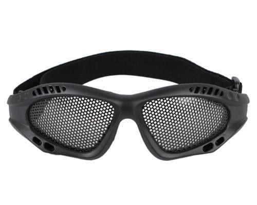 Óculos De Proteção Para Airsoft De Tela Preto