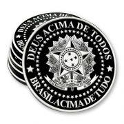 Porta Copo Emborrachado - Brasil acima de tudo - Deus acima de todos